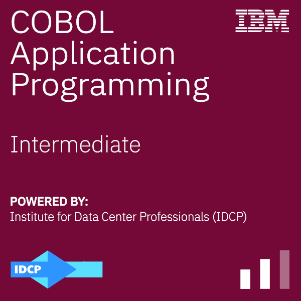 An image of a badge demonstrating proficiency with Basic COBOL Programming
